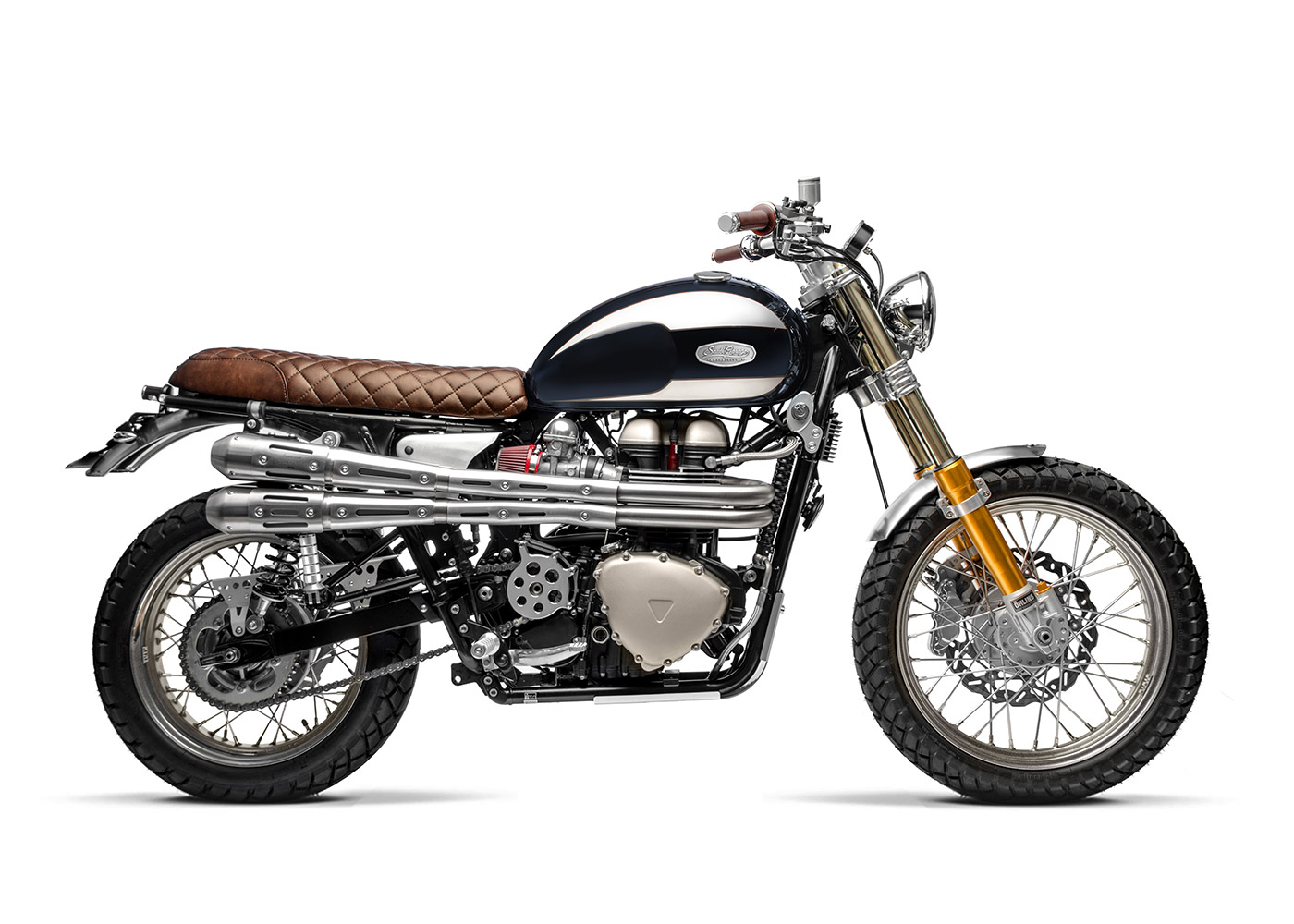 Scarico GTR8802 per moto triumph Bonneville T100 (05-15) | SPARK