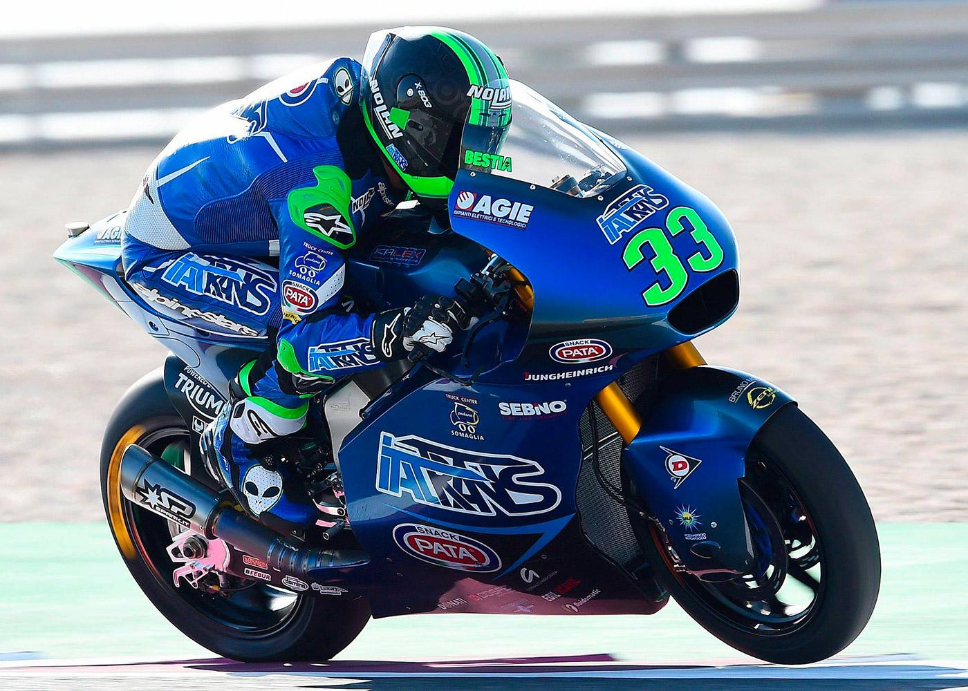 SparkRacingNews Moto2 season starts in Qatar: Enea Bastianini is...